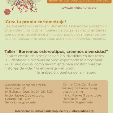 Taller audiovisual en Barcelona ¡Crea tu cortometraje y rompe con los estereotipos!