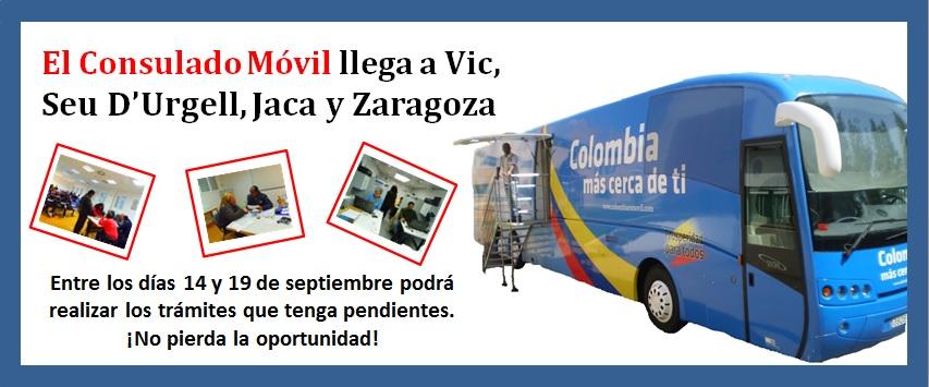 El Consulado de Colombia en Barcelona ahora es móvil y esta más cerca de los colombianos residentes en Cataluña y Aragón